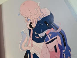 Daisuke Richard is known for his unique pastel coloured art work designs of girls. Most of the time the faces of these girls are hidden.